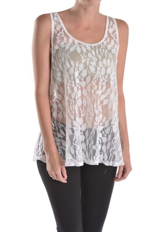 LACED TANK TOP - orangeshine.com