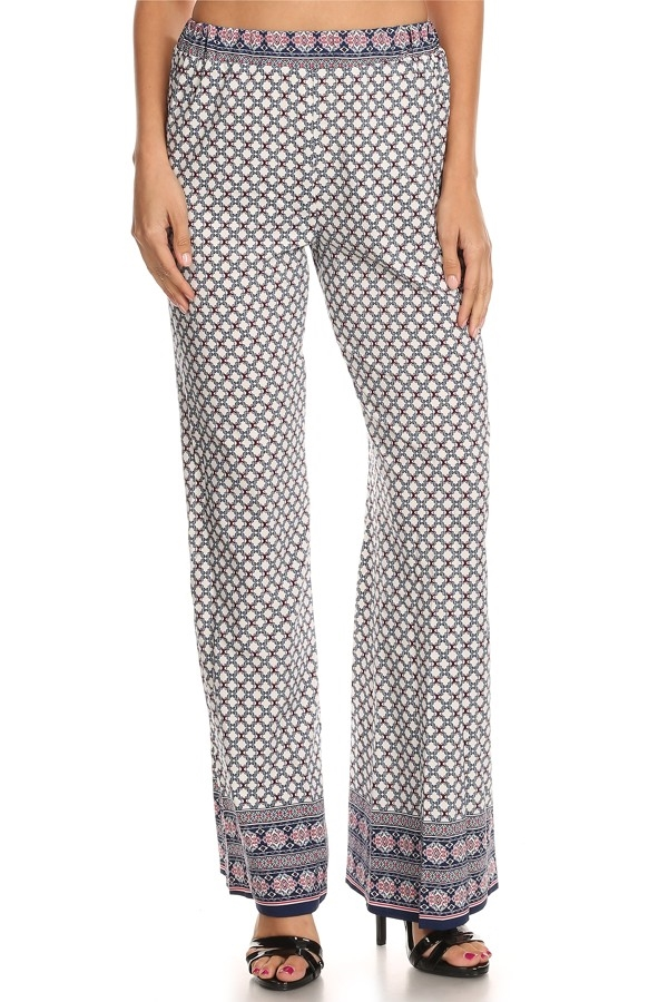 Relaxed Printed pants - orangeshine.com