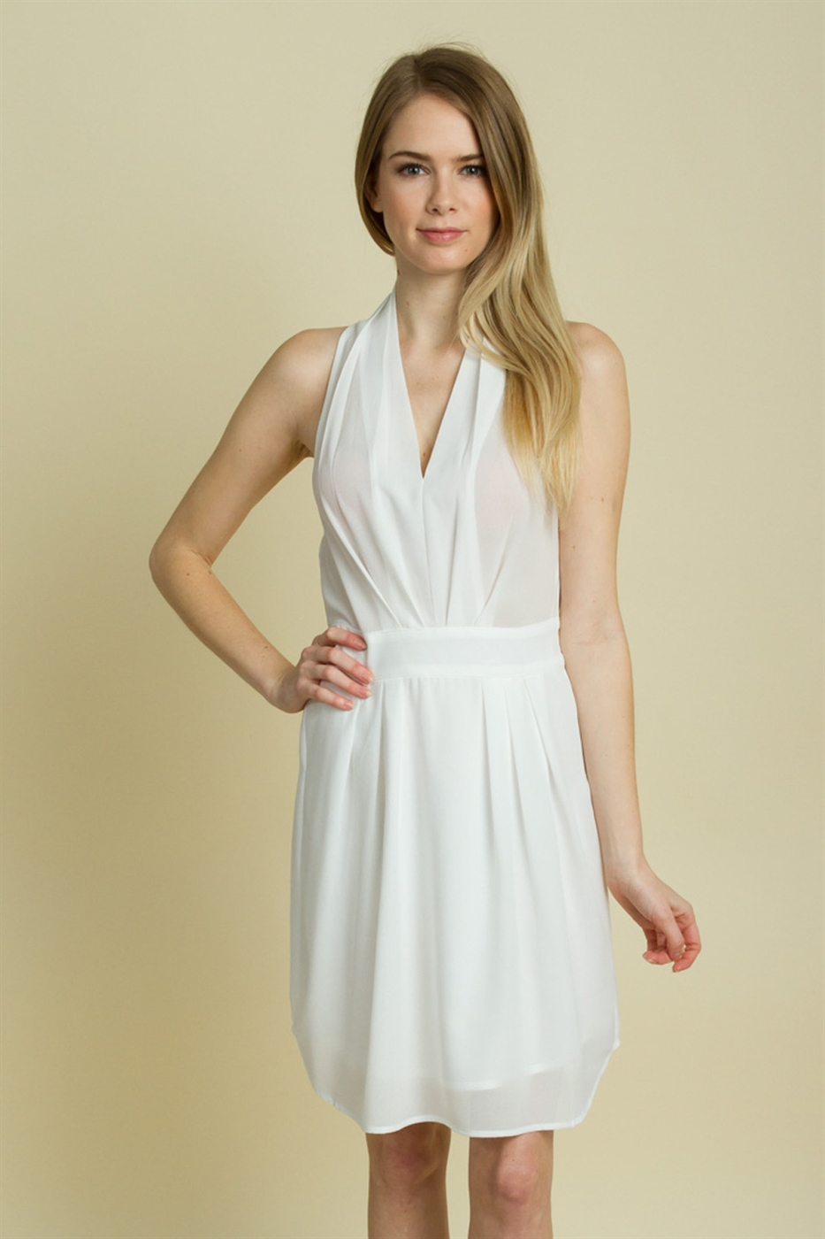 HALTER FLARE DRESS - orangeshine.com