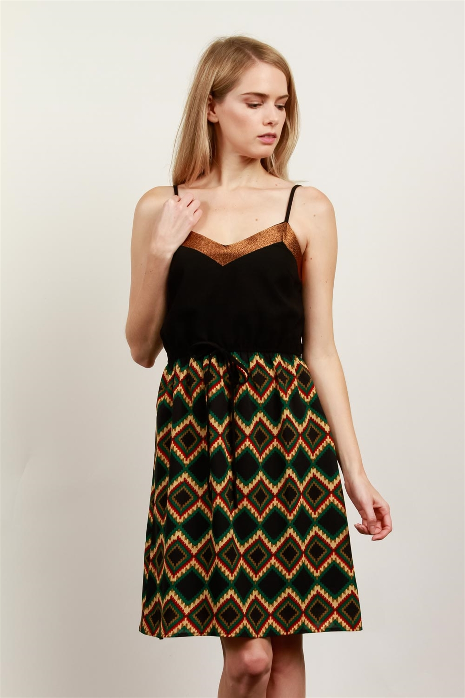 PRINT STRAP DRESS - orangeshine.com