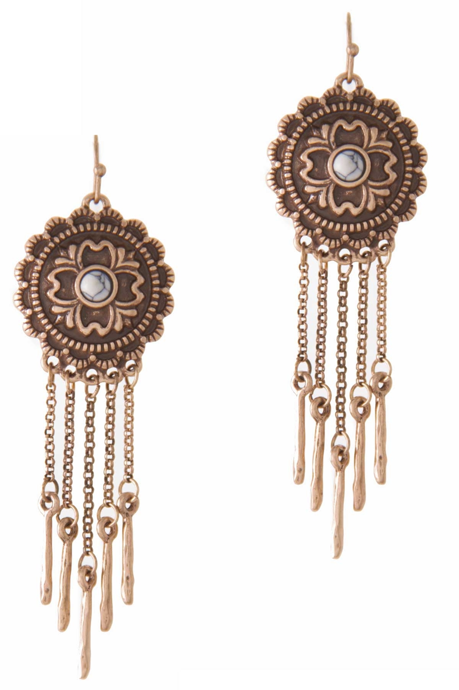 BOHO STONE CENTER EARRING - orangeshine.com