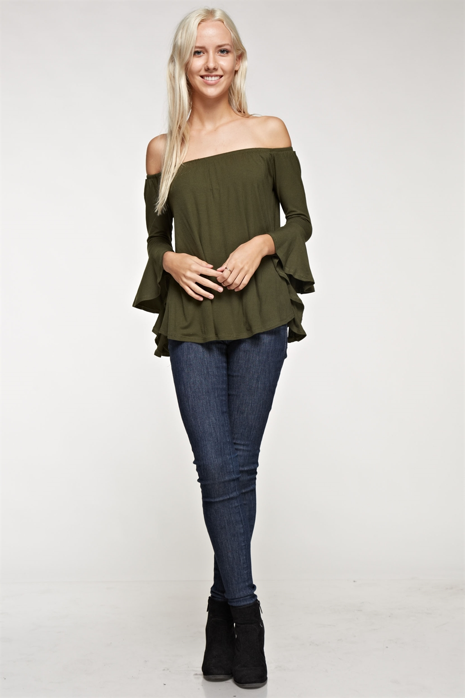 Bell sleeve off shoulder top - orangeshine.com