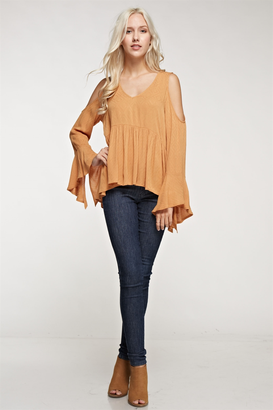 Cold shoulder blouse - orangeshine.com