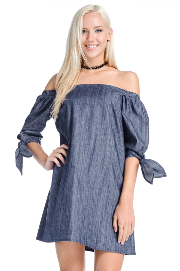 Cute off shoulder dress - orangeshine.com