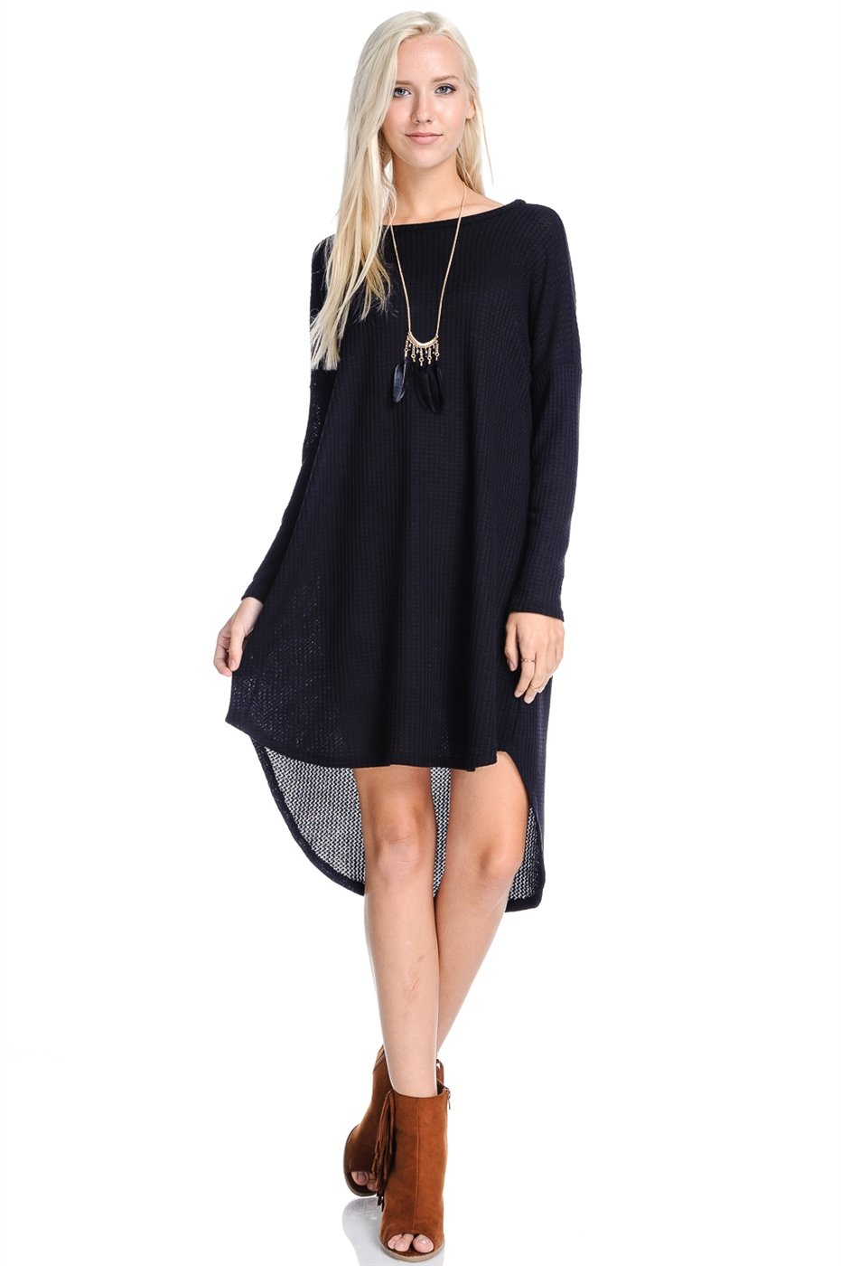 HIGH AND LOW  CASUAL DRESS - orangeshine.com