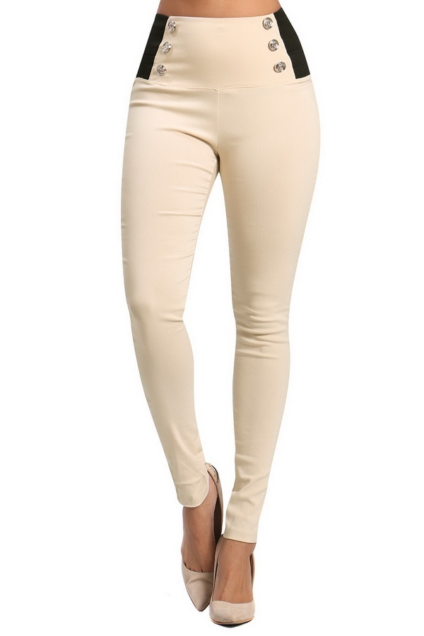 High-rise legging pants - orangeshine.com