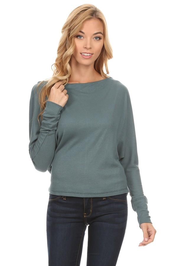 waist length long sleeve top - orangeshine.com