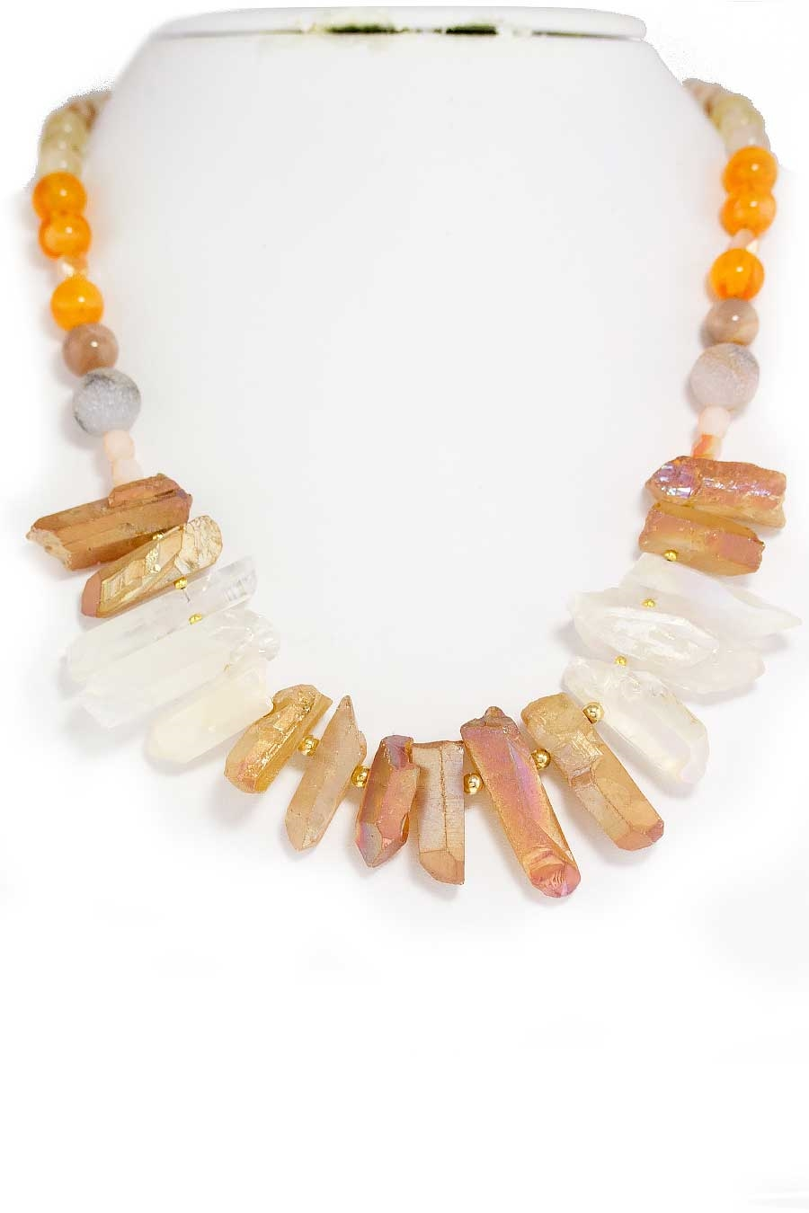 QUARTZ NECKLACE SET - orangeshine.com