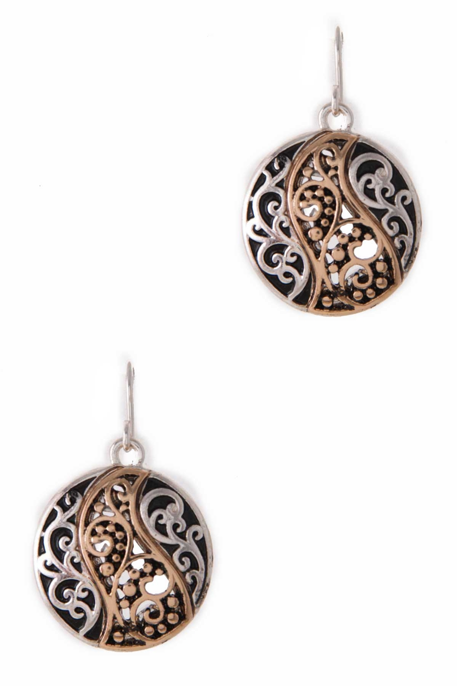 ROUND FILIGREE EARRING - orangeshine.com