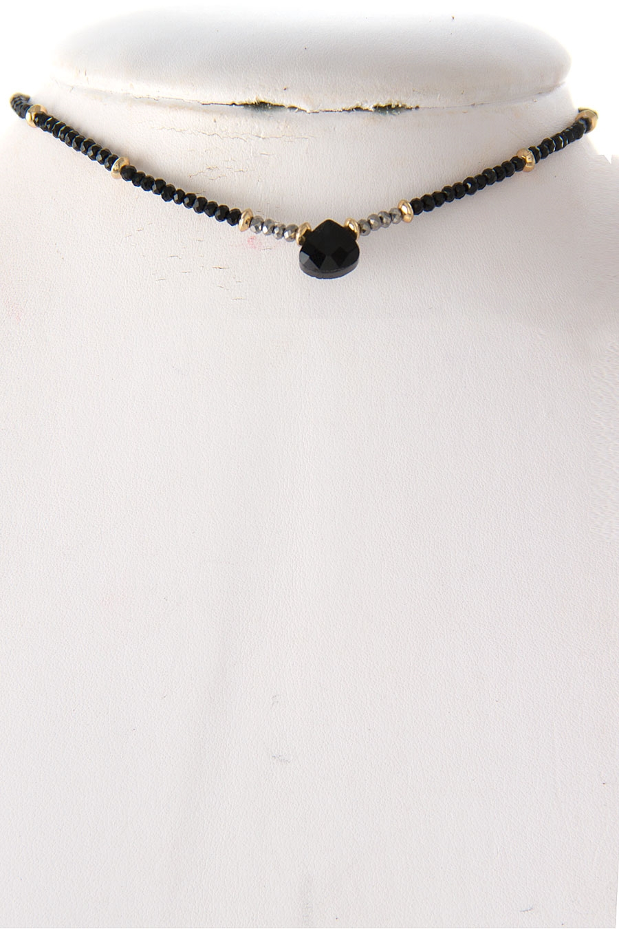 GLASS DANGLE CHOKER NECKLACE - orangeshine.com