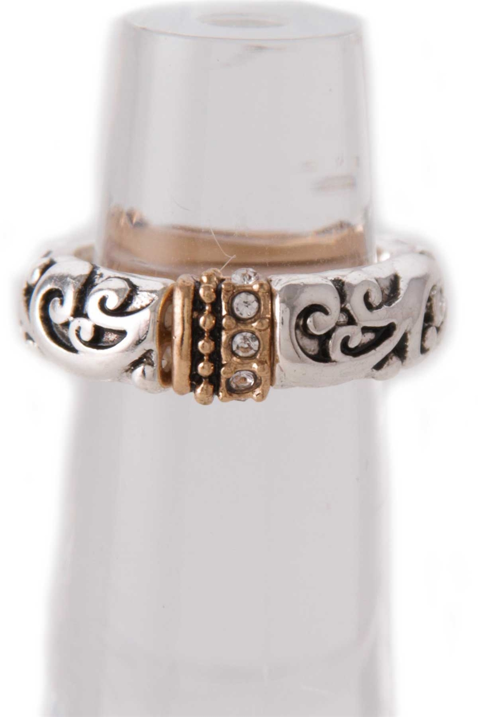 SWIRL TEXTURED STRETCH RING - orangeshine.com