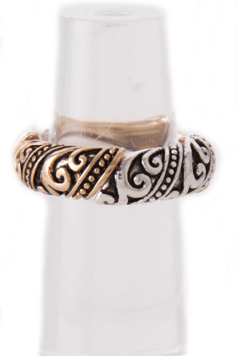 FILIGREE TEXTURED STRETCH RING - orangeshine.com