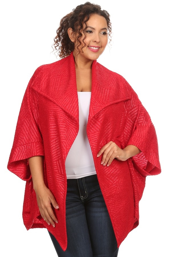 Textured jacket - orangeshine.com