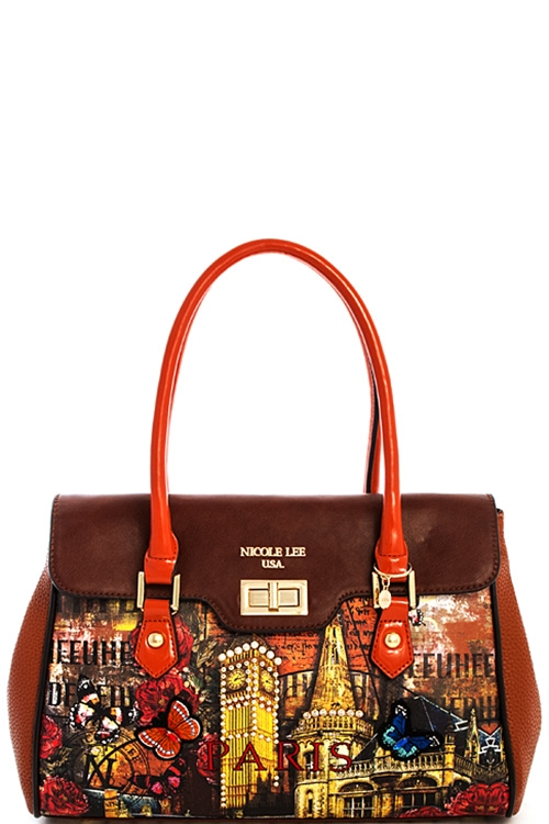 Nicole Lee Paris Satchel - orangeshine.com