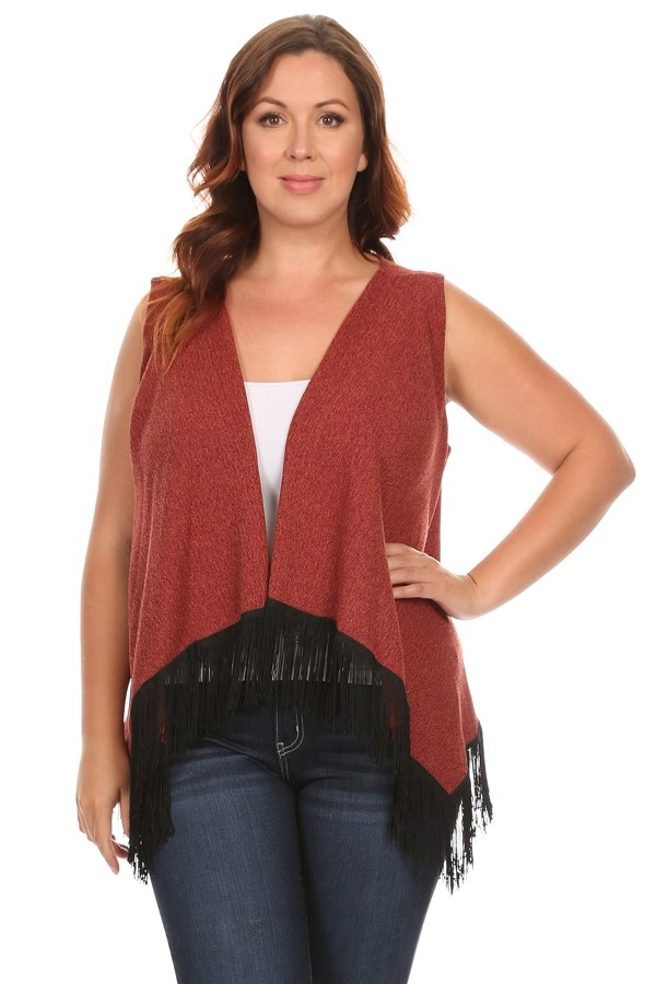 Vest with Fringe - orangeshine.com