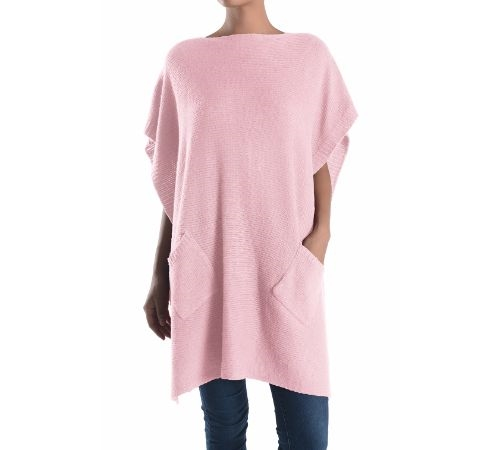 LONG PLAIN PONCHO - orangeshine.com