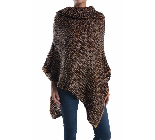 KNIT WINTER PONCHO - orangeshine.com
