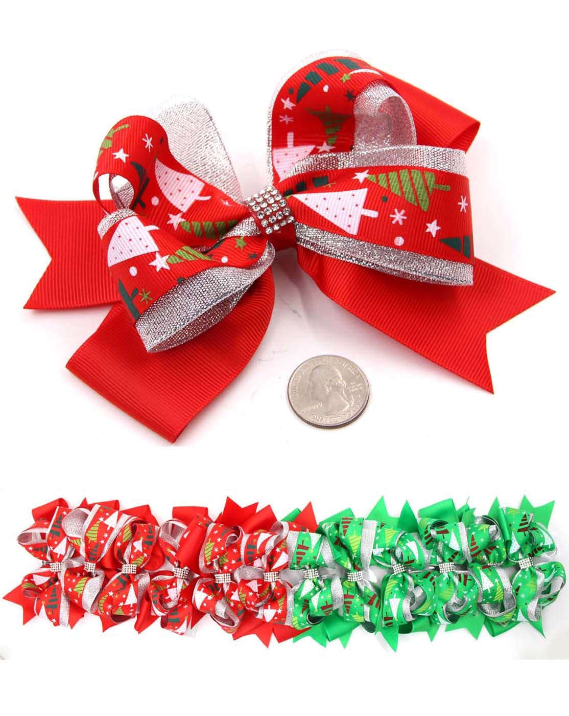 CHRISTMAS HAIR BOW - orangeshine.com