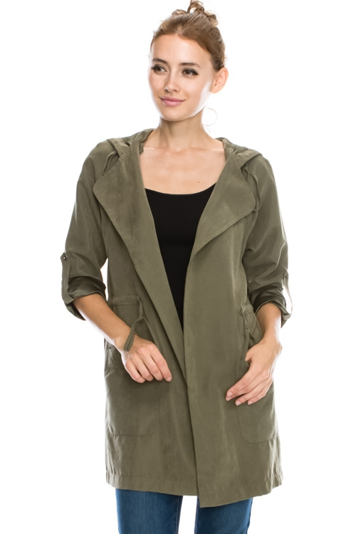 TRENCH COAT JACKET WITH HAT - orangeshine.com