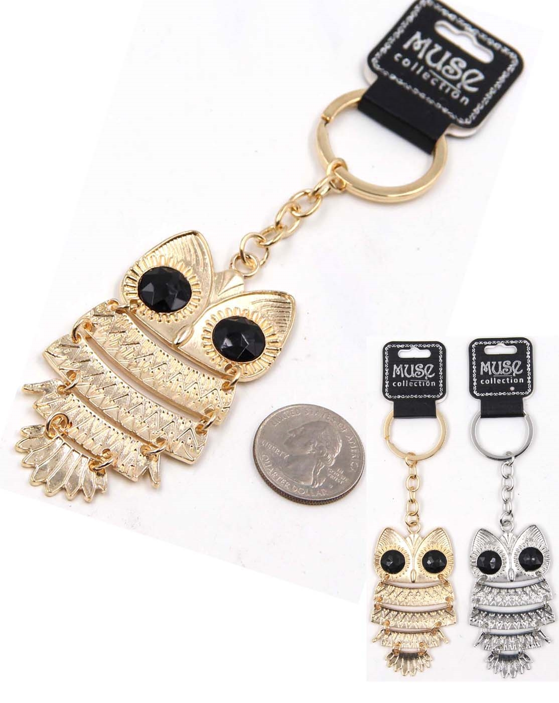 Owl Metal Key Chain - orangeshine.com