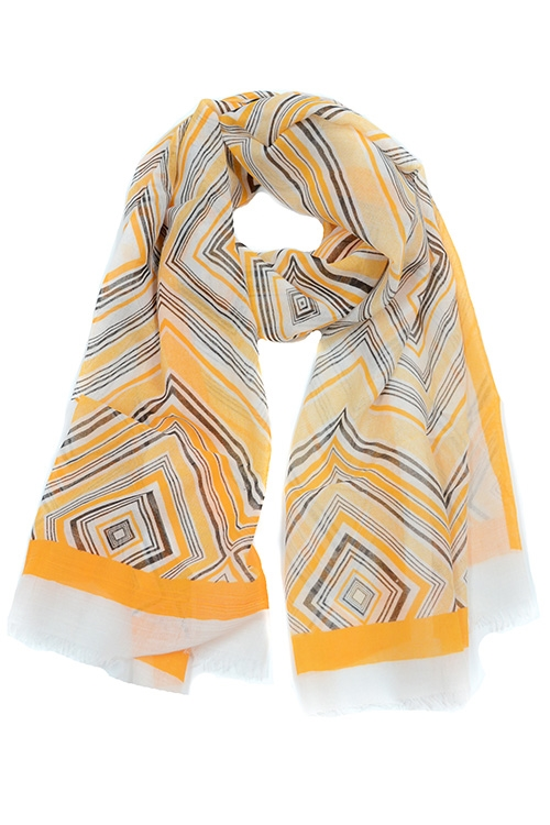 ABSTRACT PRINTED SCARF - orangeshine.com
