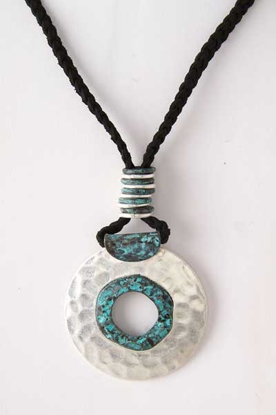 CIRCLE PLATE PENDANT NECKLACE - orangeshine.com