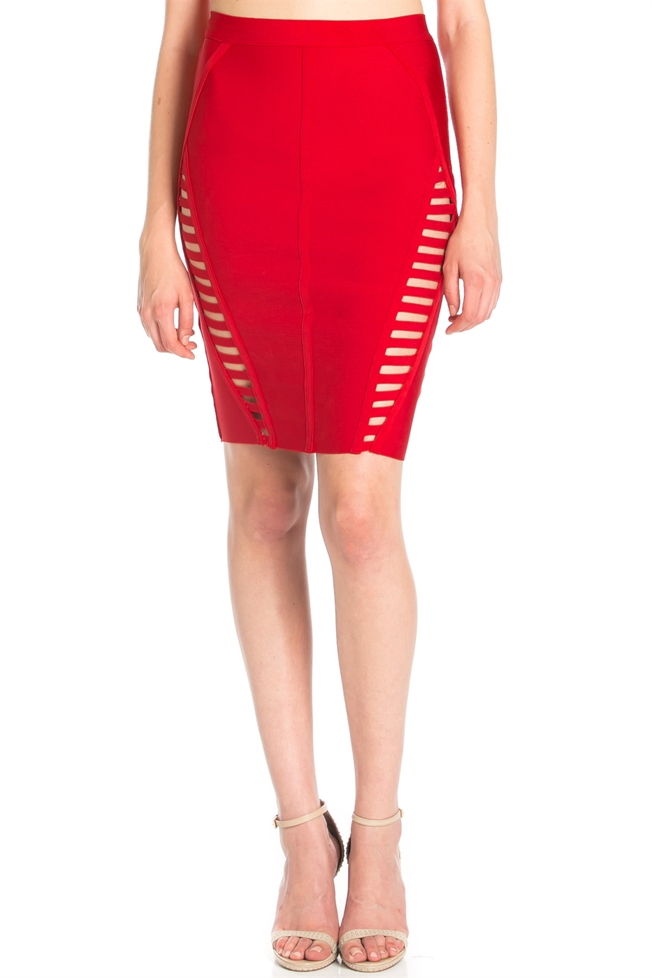 CUT OUT BANDAGE SKIRT - orangeshine.com