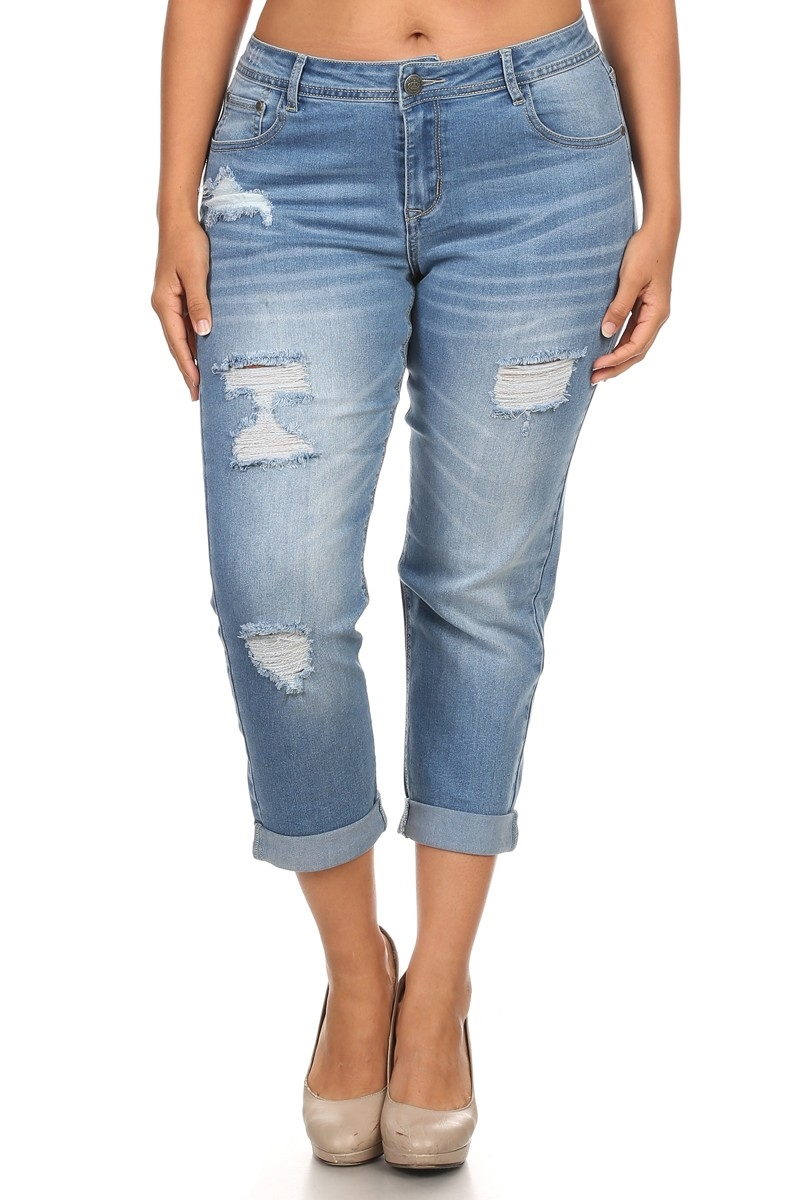 PLUS DENIM JEANS RRPB-2710 - orangeshine.com