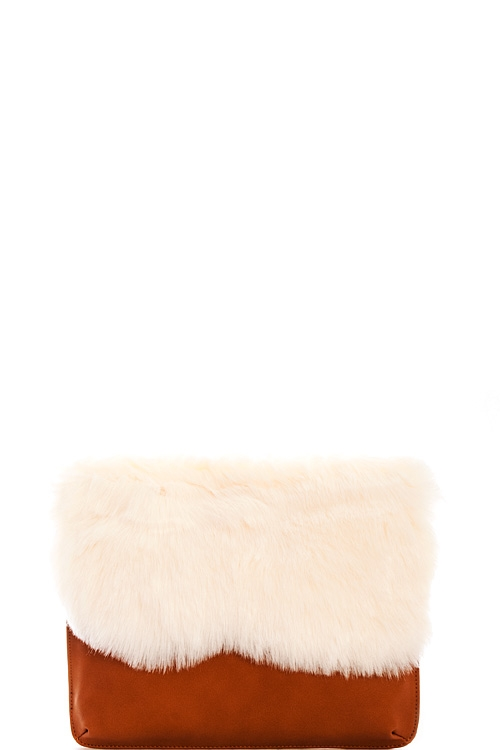 Fashion Soft Fur Clutch - orangeshine.com