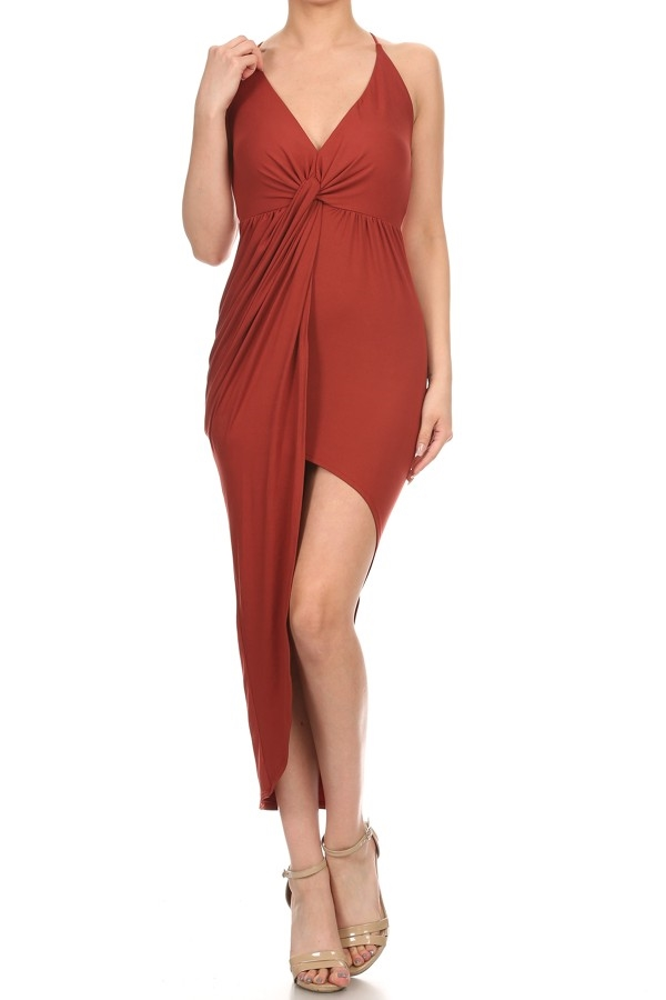 solid wrap maxi dress - orangeshine.com