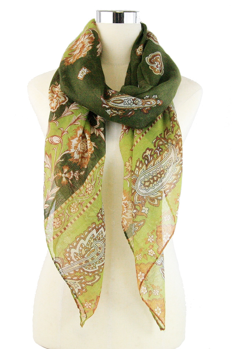 Flower Print Scarves - orangeshine.com