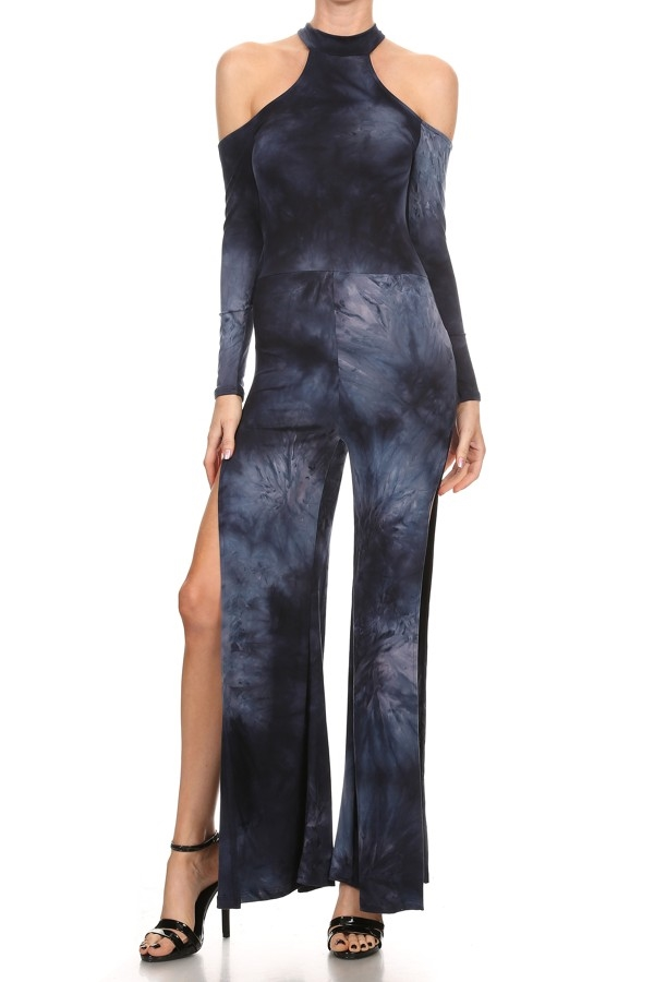 Tie dye fitted jumpsuit - orangeshine.com