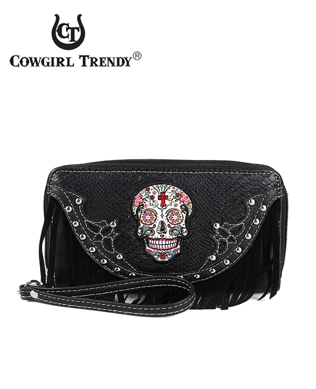 Skull Wallet with Fringe - orangeshine.com