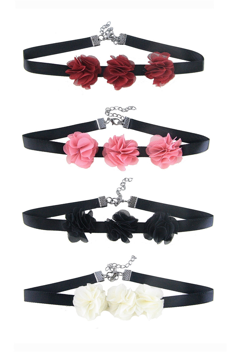 Flower Choker Necklace - orangeshine.com