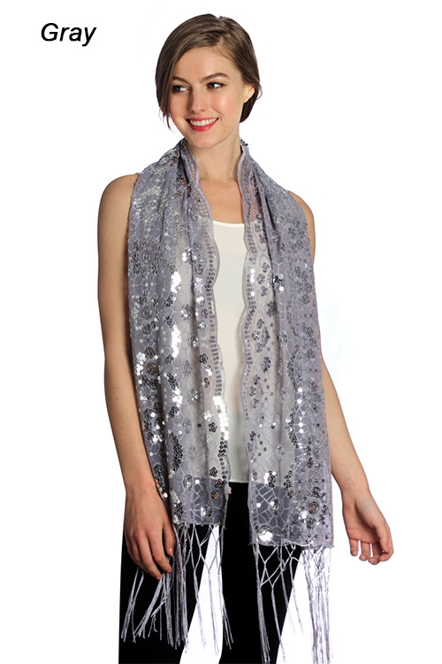 Sequin Party Shawl - orangeshine.com
