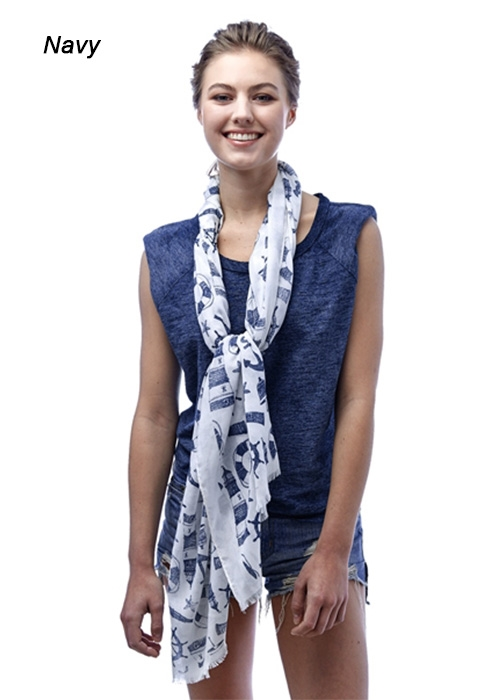 SEA THEME SCARF - orangeshine.com