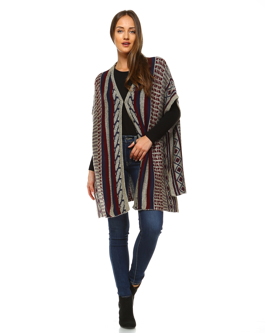 -Ethnic Bohemian Poncho Sweate - orangeshine.com