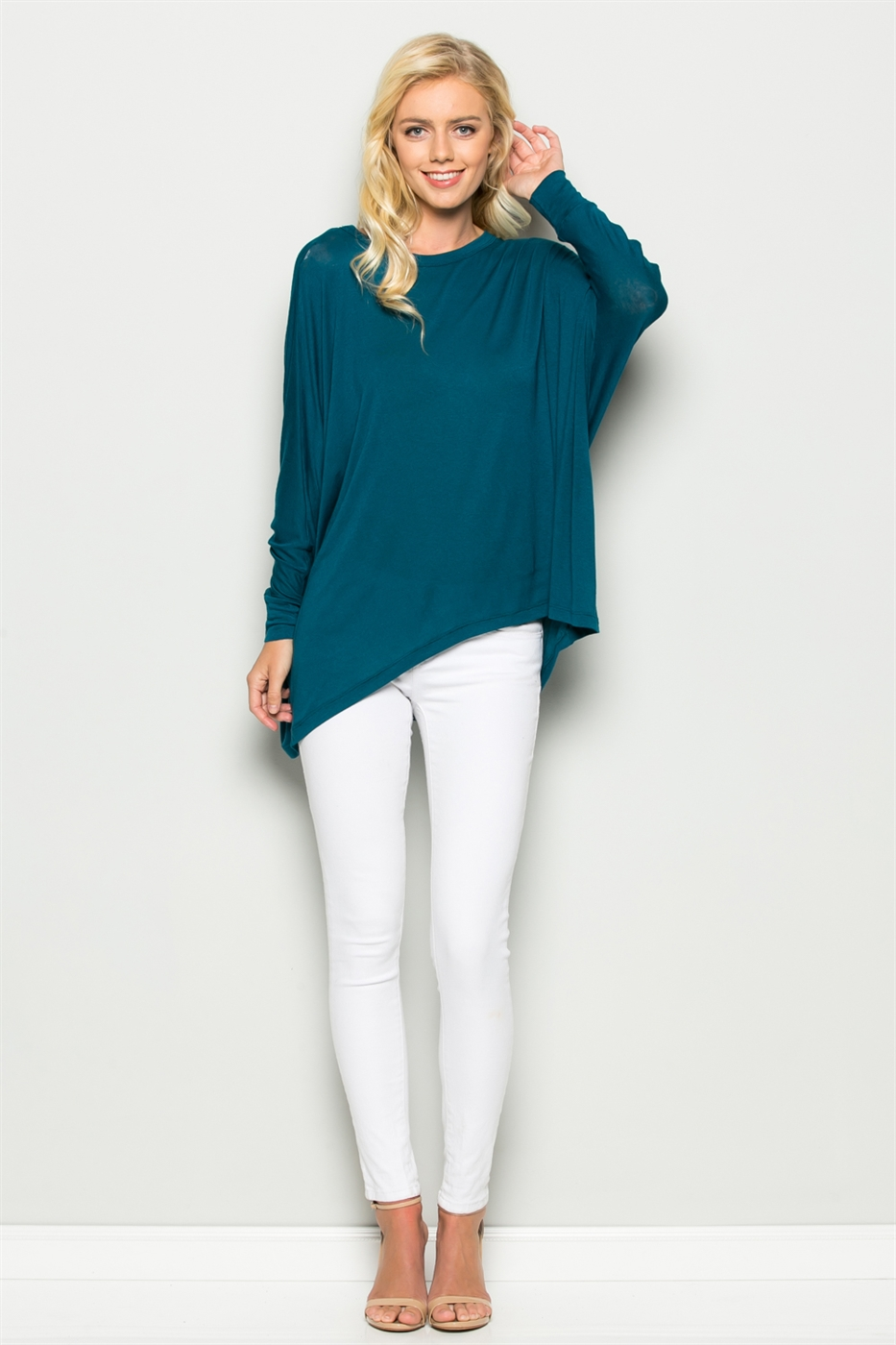 DOLMAN SLEEVE BOAT NECK TOP - orangeshine.com