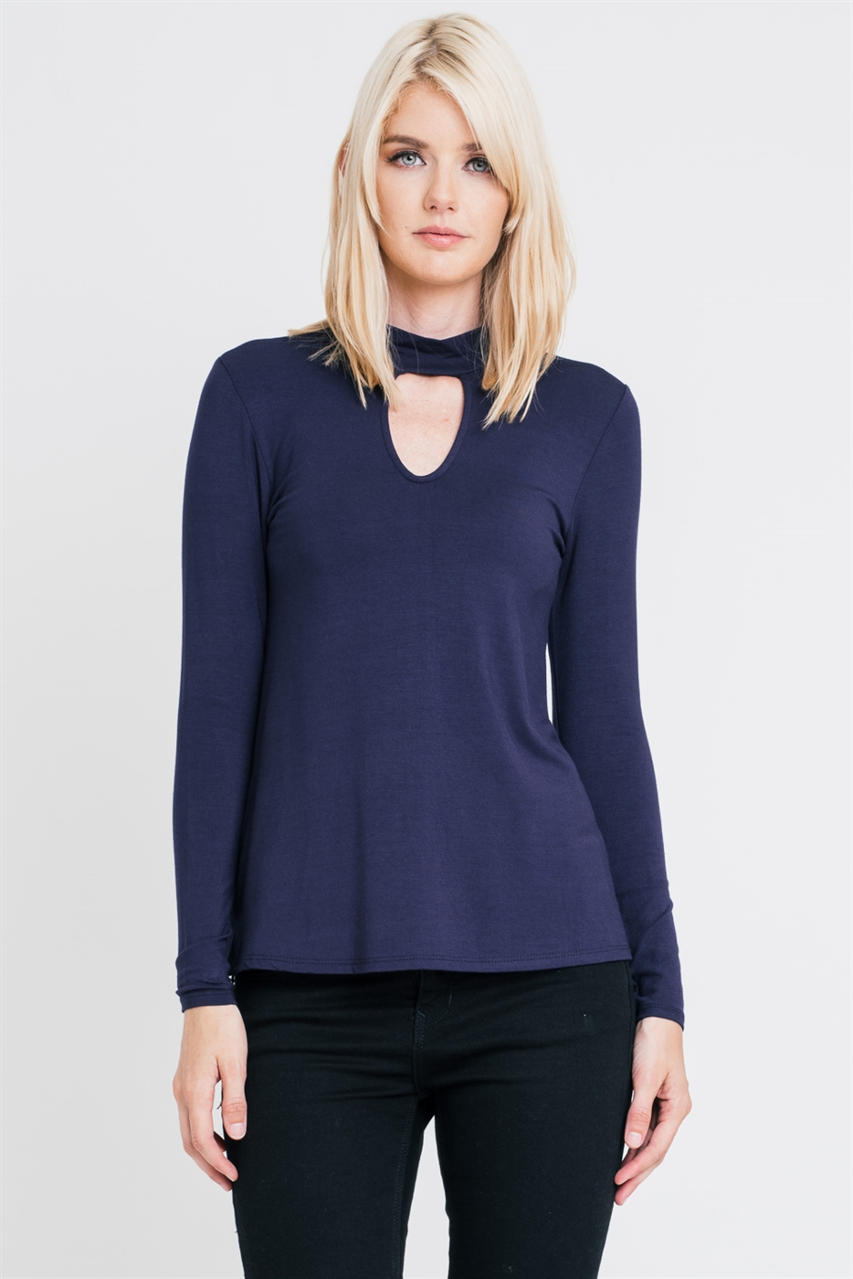 Long Sleeve Top with Keyhole - orangeshine.com