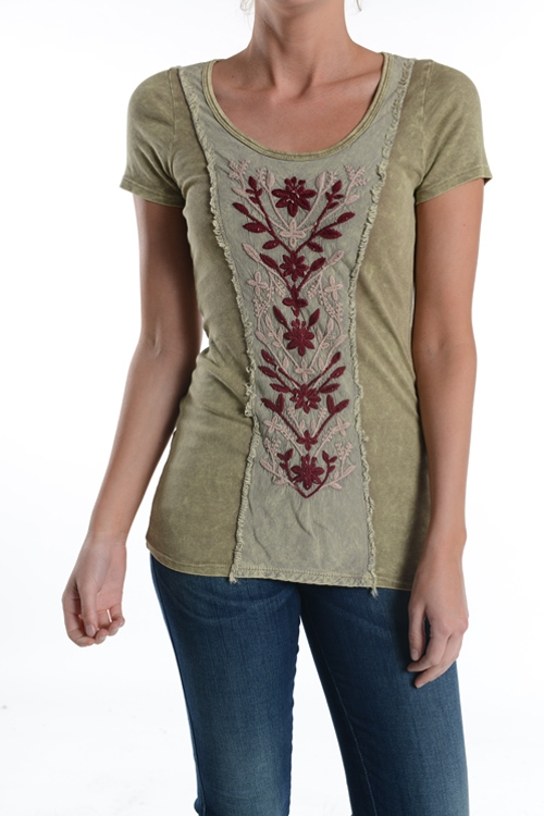 EMBROIDERY ACCENT TOP - orangeshine.com