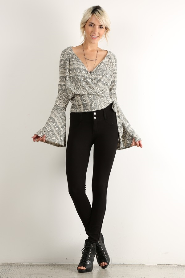 TRIBAL PRINT RELAXED FIT TOP - orangeshine.com