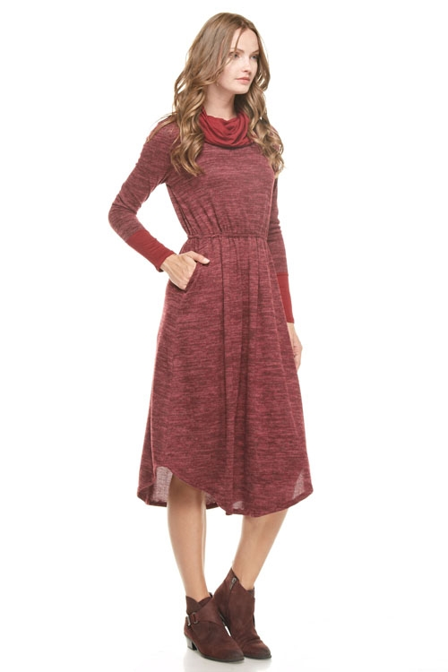 Turtleneck Sweater dress - orangeshine.com