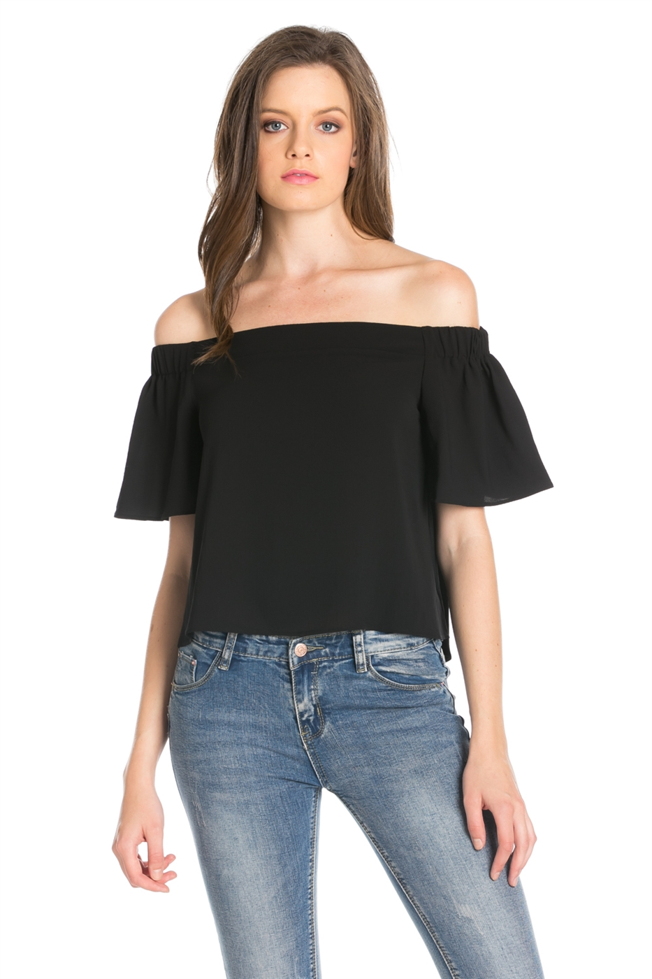 OFF SHOULDER KOSHIBO TOP - orangeshine.com