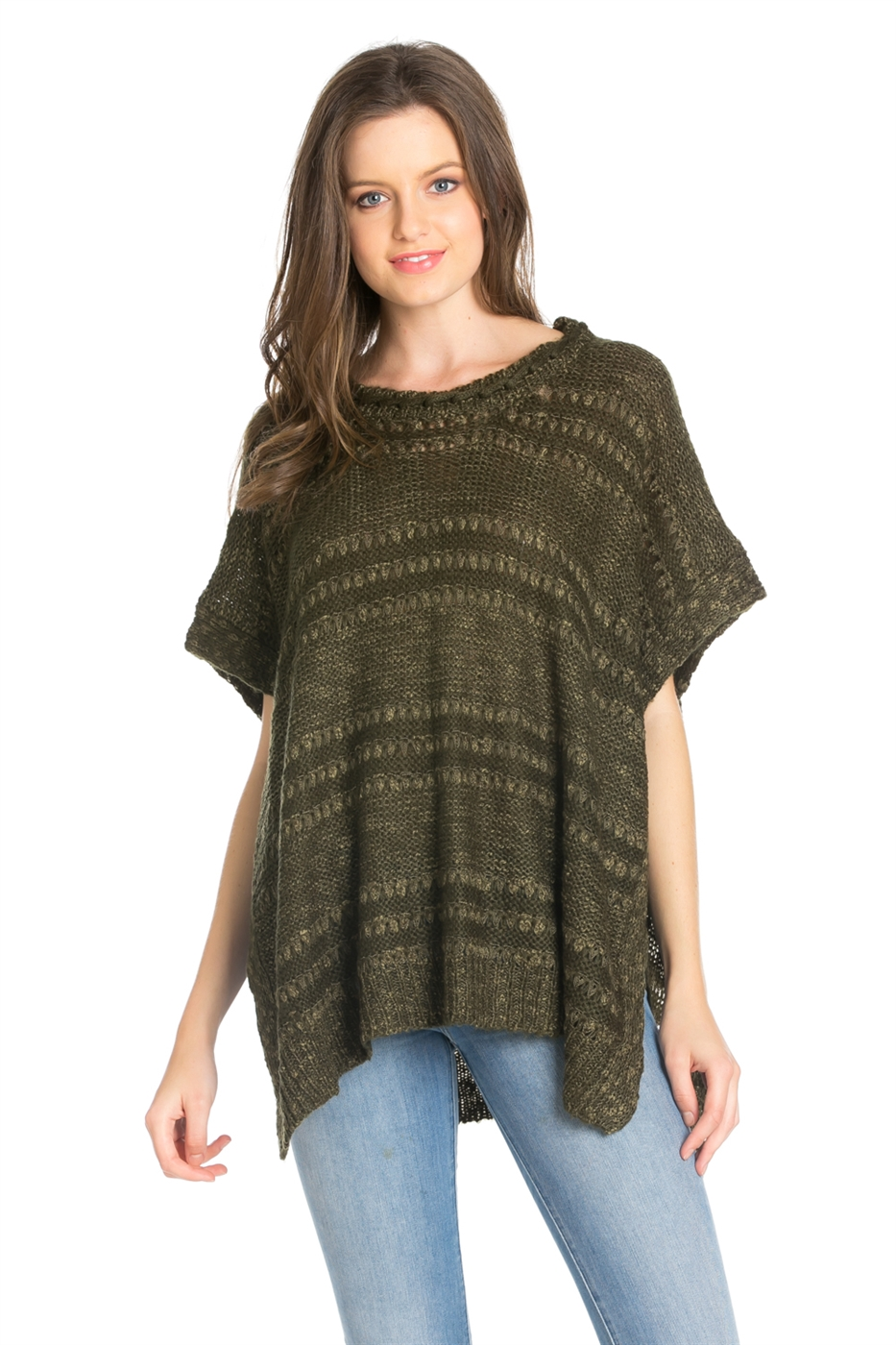 ELBOW SLEEVE KNIT SWEATER - orangeshine.com