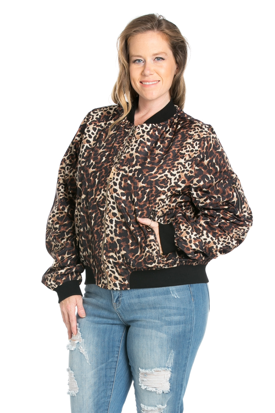 ANIMAL PRINTED BOMBER JACKET - orangeshine.com