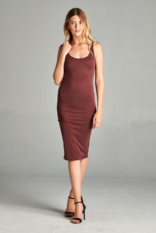 SOLID TANK DRESS - orangeshine.com