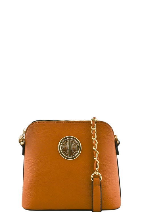 ROUNDED SYMBOL MESSENGER BAG - orangeshine.com