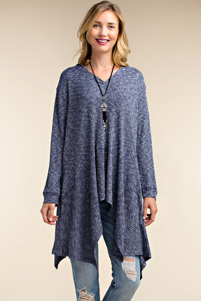 LONG SLEEVE KNIT TUNIC - orangeshine.com