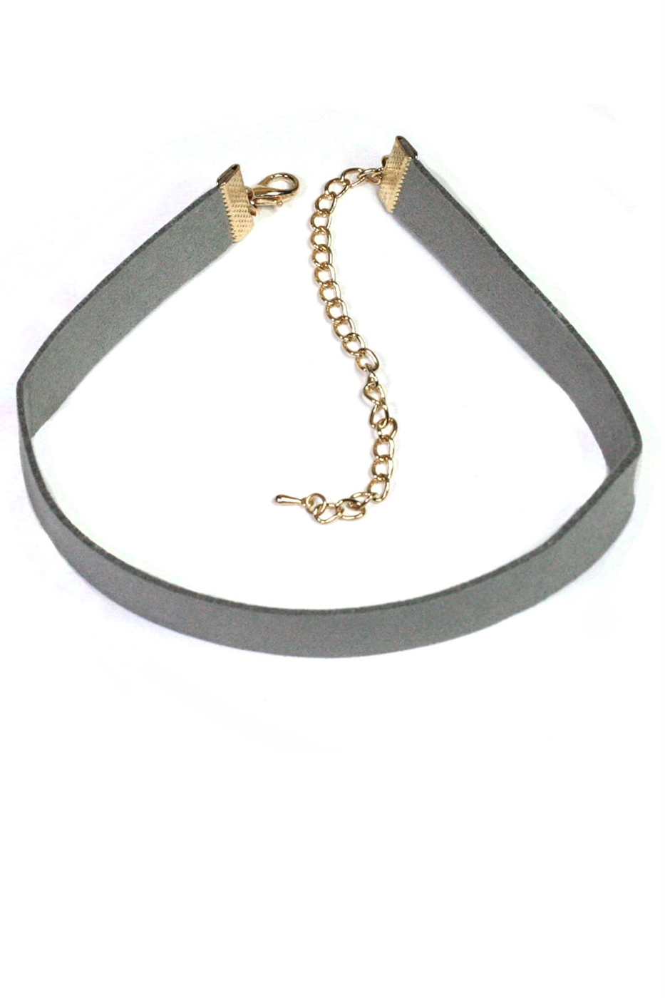 Suede Leather Choker Necklace - orangeshine.com