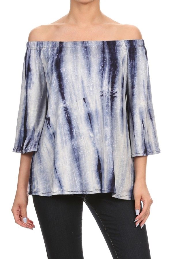 Navy Tie Dye Tops USA - orangeshine.com